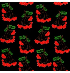 Seamless pattern background with rowanberrys and vector image vector image