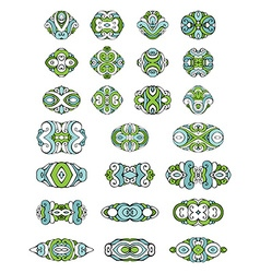 Set of coloured design elements and page vector
