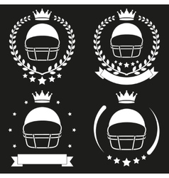 Set of Vintage Football Club Badge and Label vector image