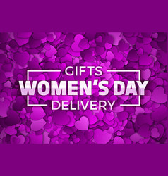 womens day gifts vector image vector image