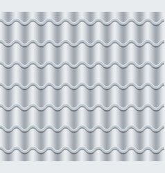 grey corrugated tile seamless pattern vector image vector image