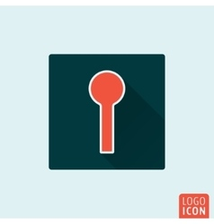 Keyhole icon isolated vector image vector image
