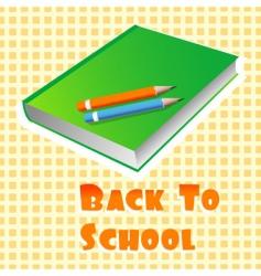 school books vector image vector image