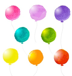 Watercolor Balloons Set vector image vector image