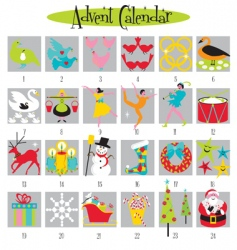 12 days of christmas vector image vector image