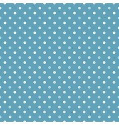 blue seamless polka dot pattern textured vector image vector image