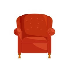 Brown armchair icon cartoon style vector image vector image
