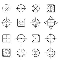 Crosshair icon set vector