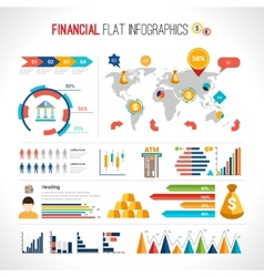 Finance flat infographic vector image
