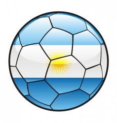 flag of argentina on soccer ball vector image