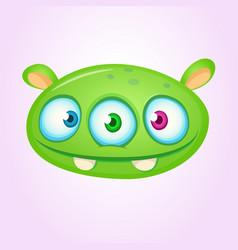happy cartoon alien head vector image