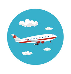 icon airplane flies to the east vector image