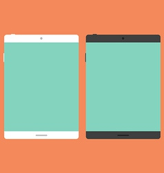 Tablet in flat style vector image