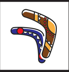 two traditional boomerangs vector image