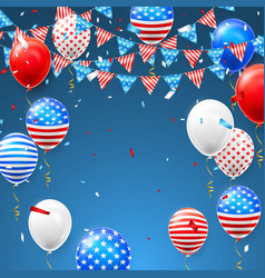 4th july independence day background vector image