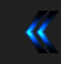 abstract blue double arrow light on dark gray vector image