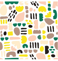 Abstract kids shapes seamless pattern paper vector