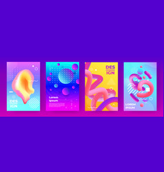 abstract posters gradient flyers with minimal vector image
