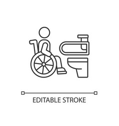 Accessible toilet linear icon vector