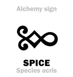 Alchemy spice species acris vector
