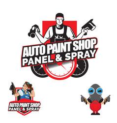 Auto paint shop vector