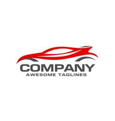 automotive car logo design vector image