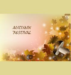 autumn festival vector image