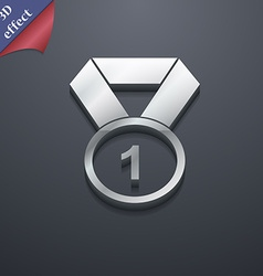 Award medal icon symbol 3D style Trendy modern vector