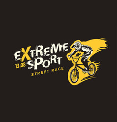 banner on theme extreme sport and street race vector image