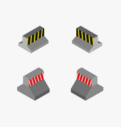 Barrier icon in on white background vector