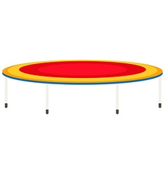 Big trampoline with high legs vector