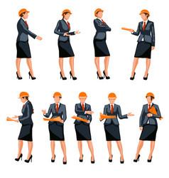 Businesswoman and engineer vector