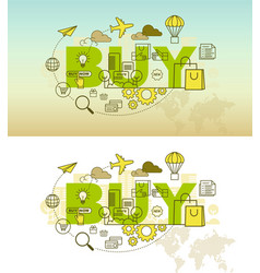 buy banner background design concept vector image