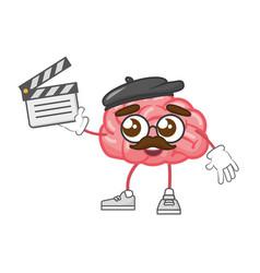 Cartoon brain creativity vector
