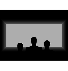 Cinema theater light from the screen vector image