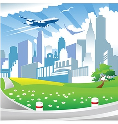 City landscape with park vector