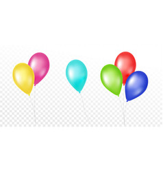 Colorful balloons set on white background vector