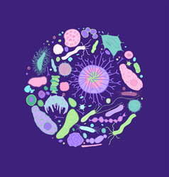 Colourful biacteria background-04 vector