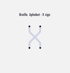 creative english version of braille alphabet vector image