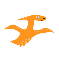cute flying pterosaur in cartoon style funny vector image