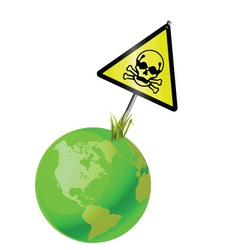 earth sign toxic vector image