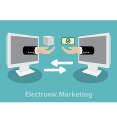 Electronic Marketing concept vector