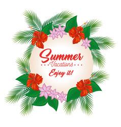 Enjoy summer design vector