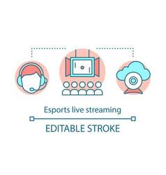 Esports live streaming concept icon vector