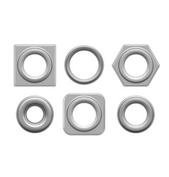 Eyelets and grommets vector