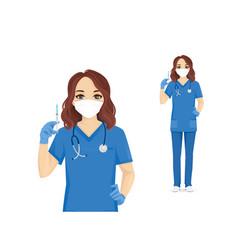 female nurse character vector image