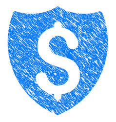financial shield grunge icon vector image