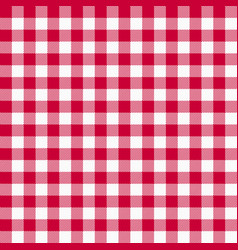 gingham red pattern vector image