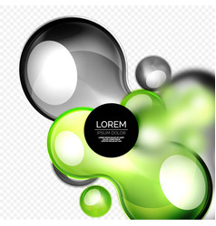 glass bubbles on grey modern techno liquid design vector image