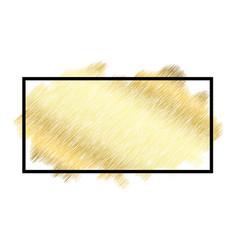 gold metall texture black frame golden color vector image